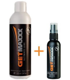 GETMAXXX Ultimate Silicone Lube Navulset - 1L + 100ML