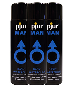 pjur MAN Basic Waterglide 250 ml (3 Pack - € 12,50 p.st.)